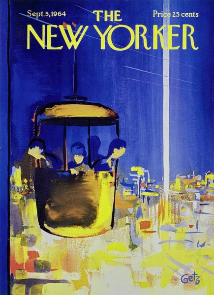 City Lights Painting - New Yorker September 5th 1964 by Arthur Getz