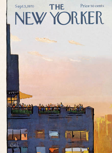 Roof Painting - New Yorker September 5th, 1970 by Arthur Getz