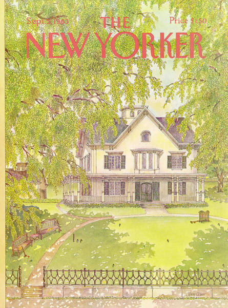 Suburban Painting - New Yorker September 5th, 1983 by Jenni Oliver