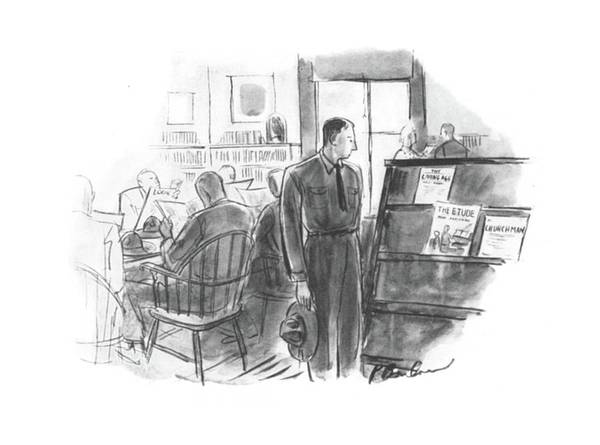 Wall Art - Drawing - New Yorker September 6th, 1941 by Perry Barlow