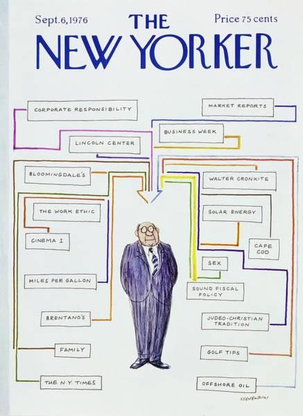 Wall Art - Painting - New Yorker September 6th 1976 by James Stevenson
