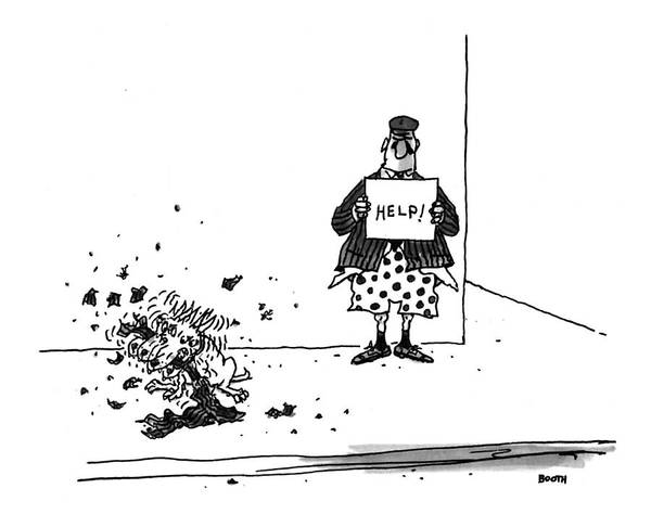 Drawing - New Yorker September 6th, 1993 by George Booth