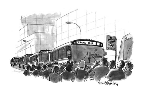 The City Drawing - New Yorker September 6th, 1993 by Mort Gerberg