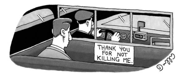 Taxi Drawing - New Yorker September 6th, 1999 by J.C.  Duffy