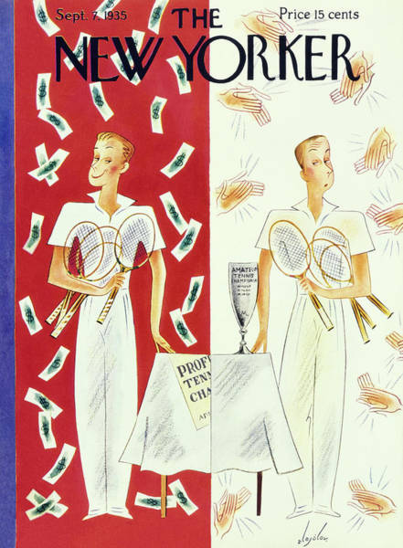 Nobody Painting - New Yorker September 7 1935 by Constantin Alajalov