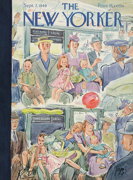 Painting - New Yorker September 7th, 1940 by Perry Barlow