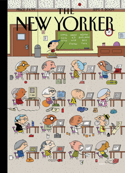 Students Painting - New Yorker September 7th, 2009 by Ivan Brunetti
