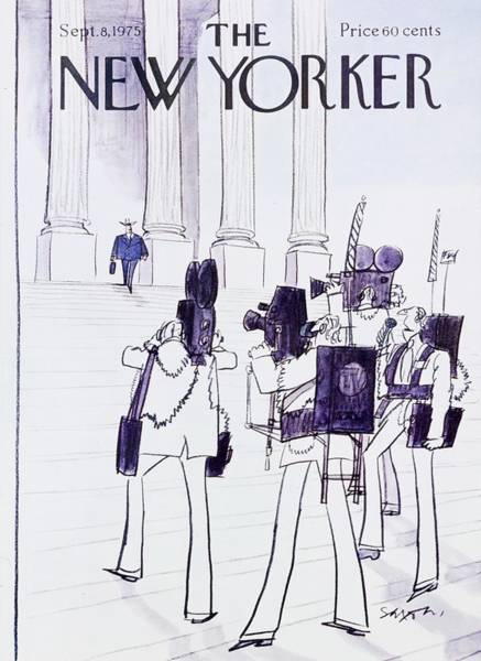 Wall Art - Painting - New Yorker September 8th 1975 by Charles D Saxon
