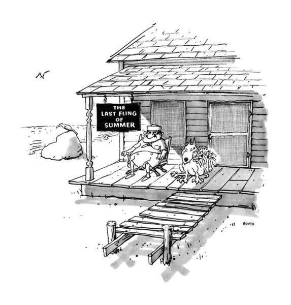 Roof Drawing - New Yorker September 8th, 1986 by George Booth