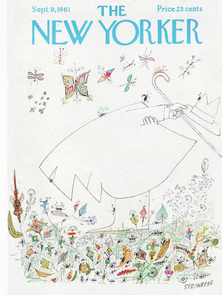 Fall Painting - New Yorker September 9th, 1961 by Saul Steinberg