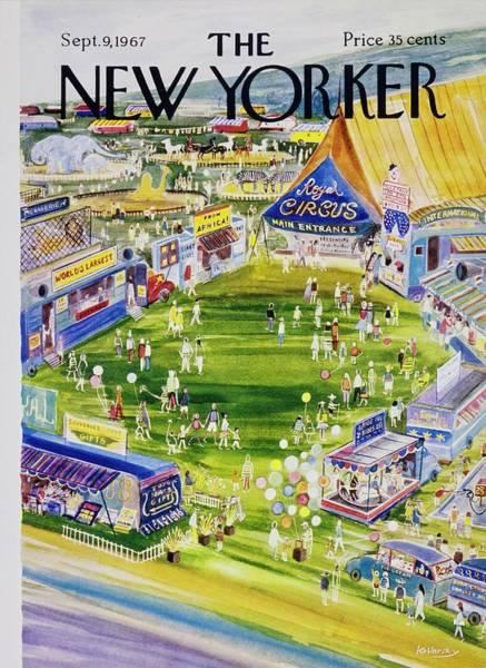 Performing Arts Painting - New Yorker September 9th 1967 by Anatole Kovarsky