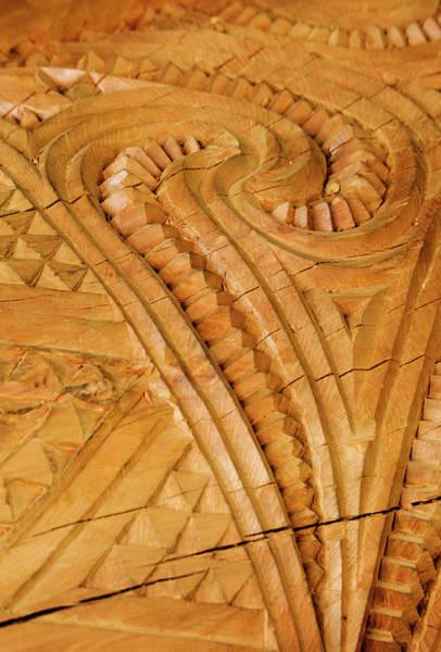 Carving Photograph - New Zealand, Rotorua by Jaynes Gallery