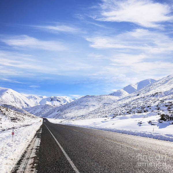 Back Road Photograph - New Zealand Winter Snow by Colin and Linda McKie