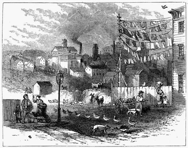 Clothesline Painting - Newark Germantown, 1876 by Granger