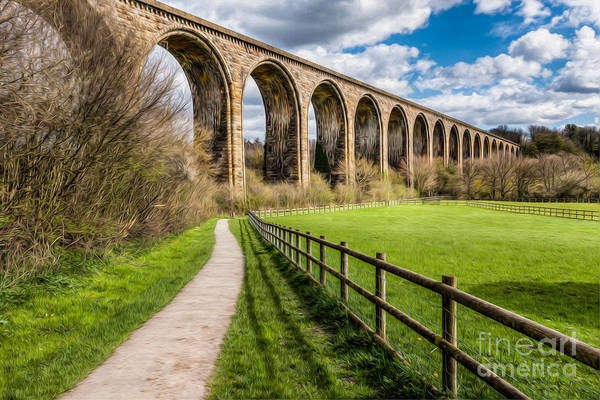 Wall Art - Photograph - Newbridge Rail Viaduct by Adrian Evans