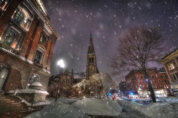 Photograph - Winter On Newbury Street - Boston by Joann Vitali