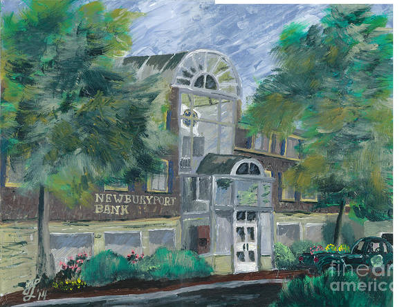 Painting - Newburyport Bank Storey Avenue by Francois Lamothe
