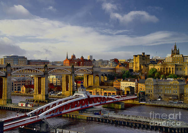 Photograph - Newcastle Upon Tyne Cityscape And Bridges by Martyn Arnold