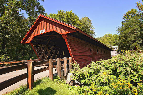 Photograph - Newfield Covered Bridge by Trina  Ansel