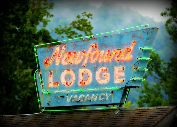 Wall Art - Photograph - Newfound Lodge Neon by Stephen Stookey