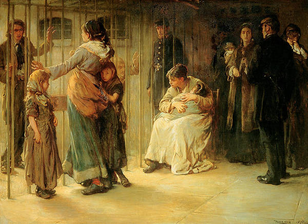 Poor Wall Art - Painting - Newgate Committed For Trial, 1878 by Frank Holl