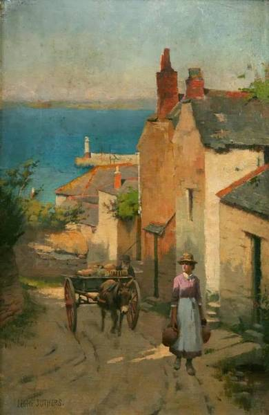 Newlyn Painting - Newlyn From The Bottom Of Adit Lane by MotionAge Designs