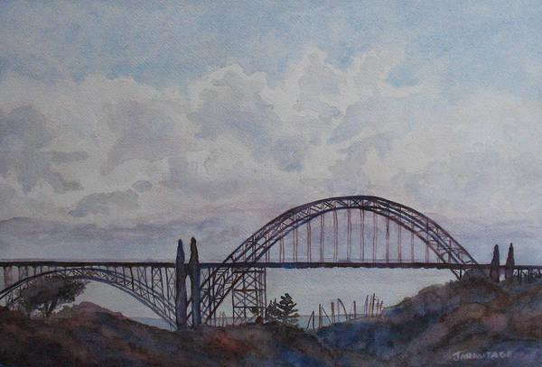 Wall Art - Painting - Newport Bay Bridge I by Jenny Armitage