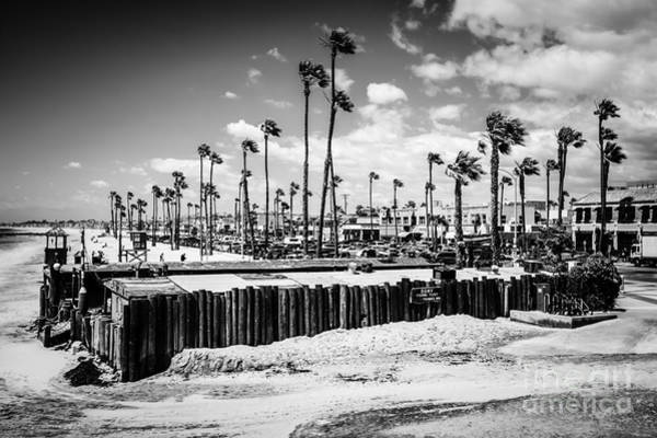 Oceanfront Photograph - Newport Beach Dory Fishing Fleet Black And White Picture by Paul Velgos