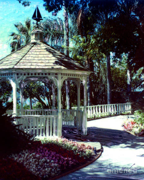 Photograph - Newport Beach Gazebo by Glenn McNary