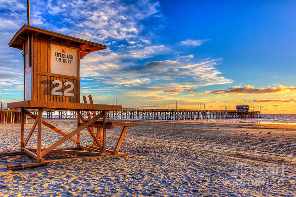 Low Tides Photograph - Newport Beach Pier - Wintertime  by Jim Carrell