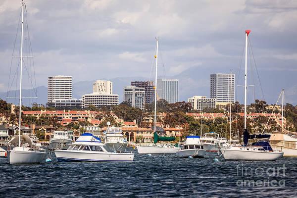 Newport Beach Skyline  Art Print