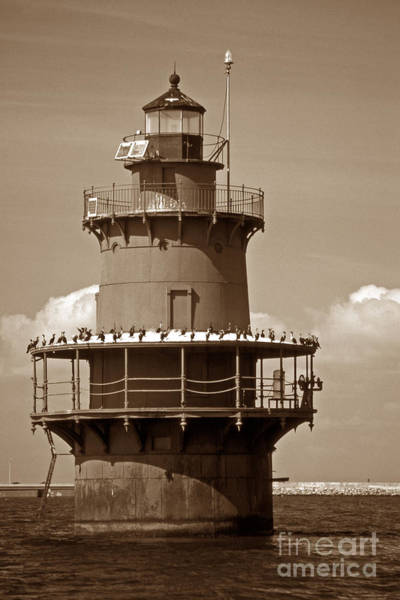Virginia Lighthouse Photograph - Newport News Middle Ground Light by Skip Willits