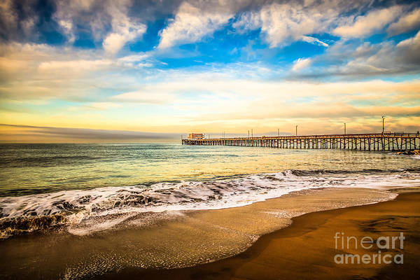 Wall Art - Photograph - Newport Pier Photo In Newport Beach California by Paul Velgos