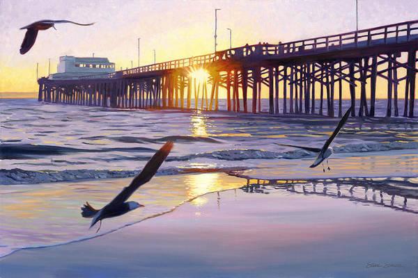 Wall Art - Photograph - Newport Pier Sunset by Steve Simon