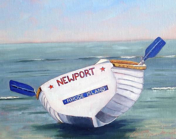Newport Ri Wall Art - Painting - Newport Rhode Island Skiff by Betty Ann Morris