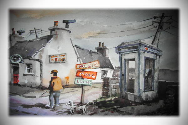 Painting - Newquay Essentials Clare by Val Byrne