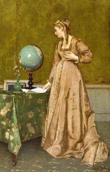 Missing Painting - News From Afar by Alfred Emile Stevens