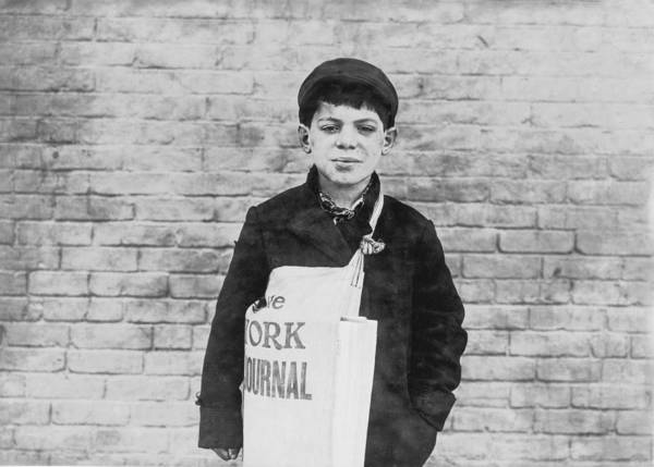 Wall Art - Photograph - Newspaper Boy by Aged Pixel