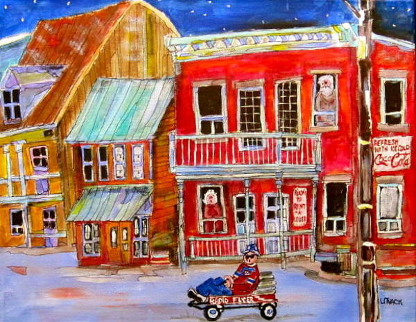 Wall Art - Painting - Newspaper Delivery by Michael Litvack