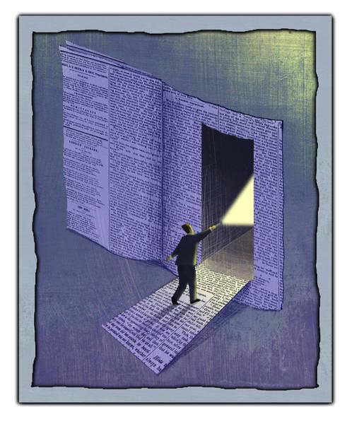 Journalist Digital Art - Newspaper by Steve Dininno