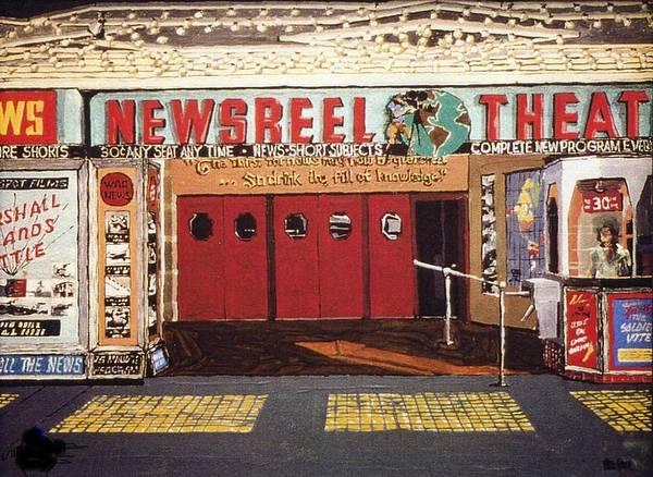 Newsreel Theatre Art Print by Paul Guyer