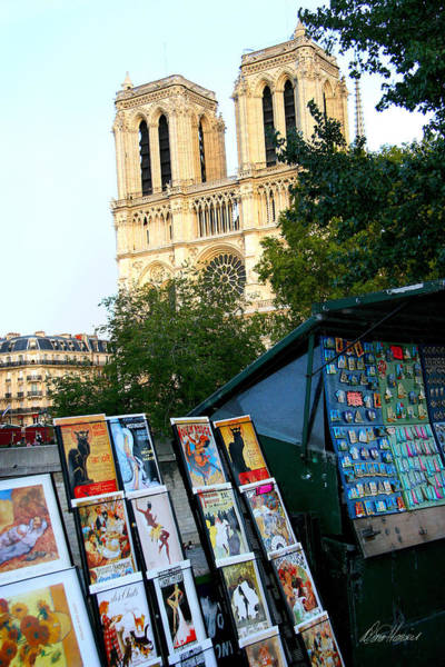 Photograph - Newsstand Near Notre Dame by Diana Haronis