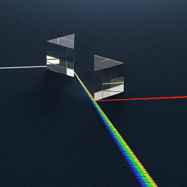Wavelength Photograph - Newtonian Prism Arrangement by David Parker