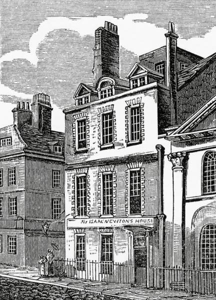 St Martin Photograph - Newton's House by Royal Astronomical Society/science Photo Library