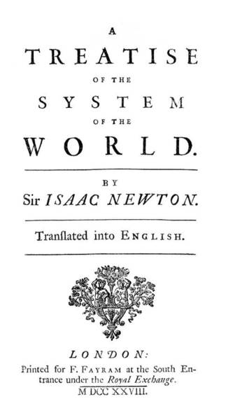 Front Page Photograph - Newton's System Of The World by Royal Astronomical Society/science Photo Library