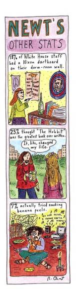 December 19th Drawing - Newt's Other Stats by Roz Chast