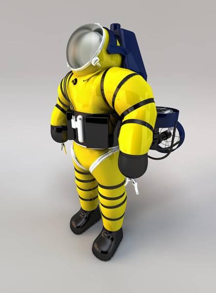 Diving Suit Photograph - Newtsuit Rescue Diver by Paul Wootton/science Photo Library