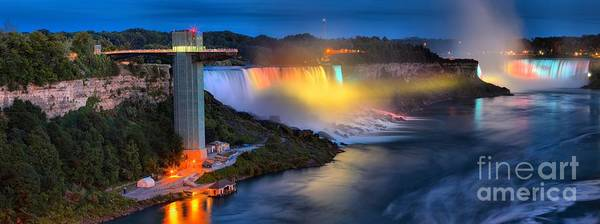 Photograph - Niagara American And Horseshoe At Night by Adam Jewell