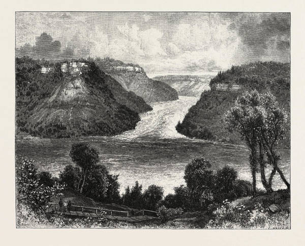 Wall Art - Drawing - Niagara District, Exit Of The River From Whirlpool by Canadian School