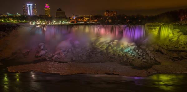 Niagara Falls Photograph - Niagara Falls At Night by Ian Stotesbury